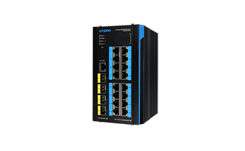 L3 Industrial 16-Port PoE Gigabit + 4-Port 10G SFP+ Managed Ethernet Switch